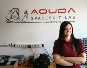 Veronika Haberle at the Spacesuit Lab