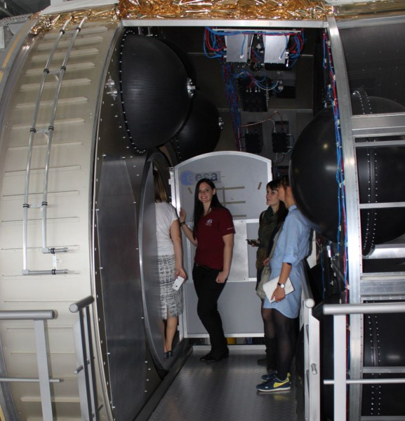 Inside Columbus mockup at EAC