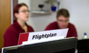 Flight Planning Konsole - ein wesentliches Element des MSC zur Unterstützung der Feldcrew.