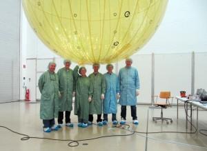 Fertigstellung des Miriam-2 Ballons (c) Mars Society Deutschland / UniBw München