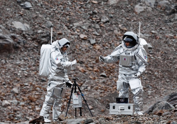 Analog-Astronauten während dem L.I.F.E.-Experiment (c) OeWF 2015 (Paul Santek)