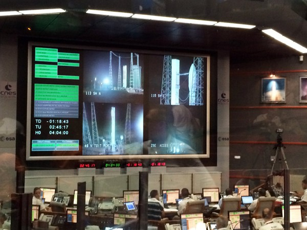 The main control room for all rocket launches from Kourou