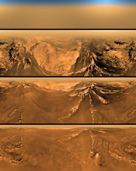 Huygens Sonde auf dem Weg zur Titan Oberfläche. (c) ESA/NASA/JPL/University of Arizona
