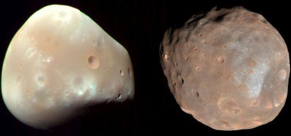 Deimos and Phobos (c) NASA / JPL-Caltech / University of Arizona