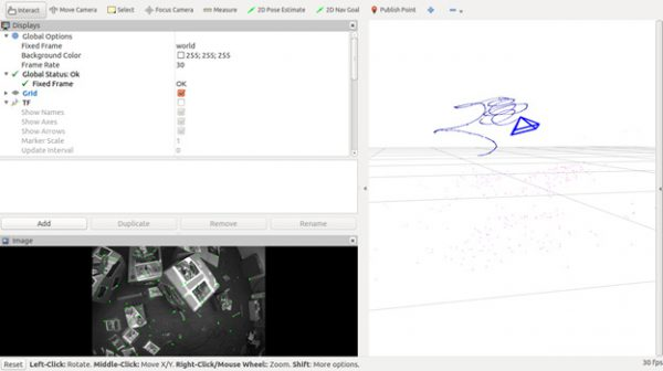 Screenshot of his intern project