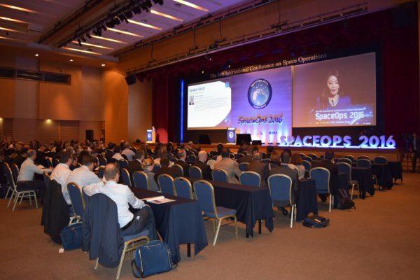 The main stage of the SpaceOps conference (c) Pradyumna Nanda Vyshnav