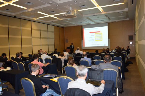 Principal author Pradyumna presenting the paper on AMADEE-15 (c) Michael Mueller