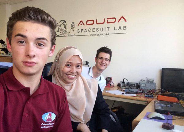 Teamarbeit im ÖWF Suitlab (v.l): Martin Zwifl, Anna Nelson, Konstantin Chterev