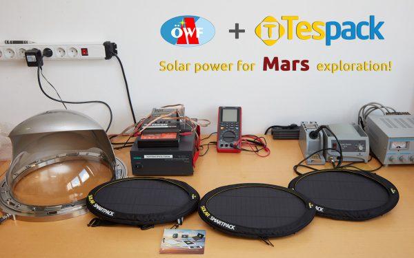 Solar power for Mars exploration: Tespack smartpacks (c) OeWF (Paul Santek)