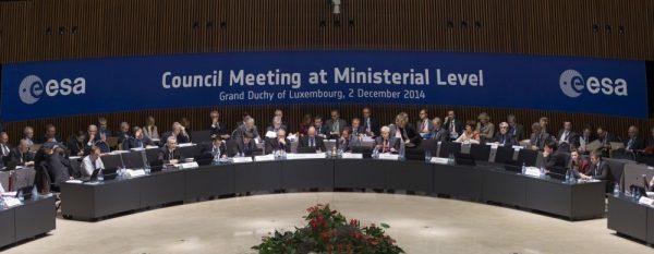 Der Konferenzsaal der Ministerratskonferenz 2014 (c) ESA