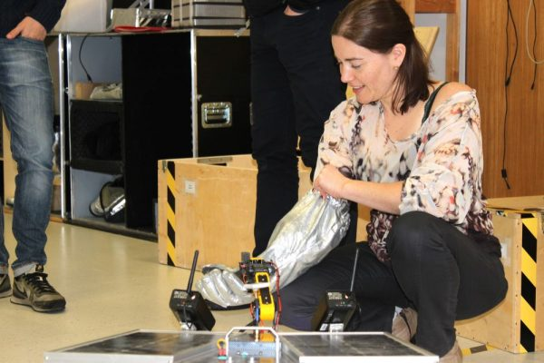 Teacher Training: Rover mock-up and analog astronauts gloves