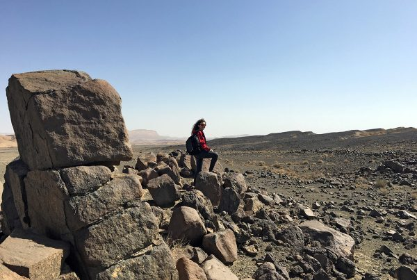 Sophie Gruber at a possible Mars analog site in Israel