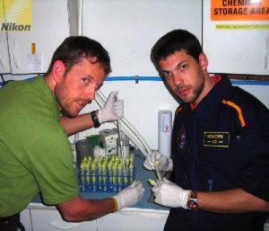 Markus Spiss & Alexander Soucek working on samples