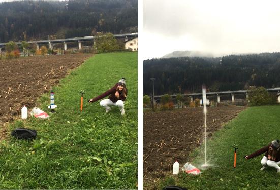 Launching waterrockets
