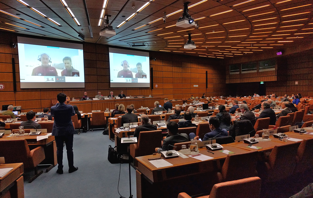 Livelink from Oman and Innsbruck with UN Vienna (c) OeWF