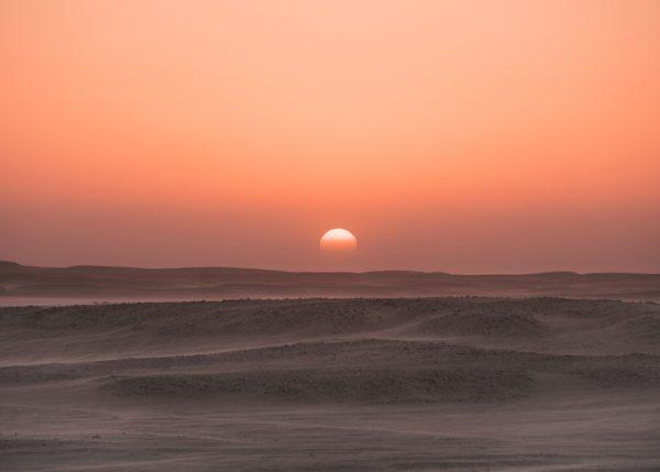 Sonnenuntergang im Oman während AMADEE-18 Misison (c) ÖWF (Florian Voggeneder)