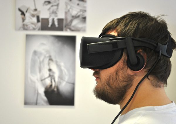 My intern colleague Nils Kaufmann is conducting a Dragon docking in virtual reality.