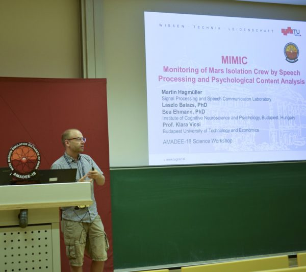 Martin Hagmueller (TU Graz) from the MIMIC experiment