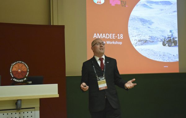 Gernot Groemer (OeWF) about the AMADEE-18 Simulation in Oman