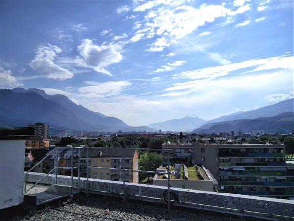 Aussicht von Innsbruck in das Unterinntal. (Richtung Osten)
