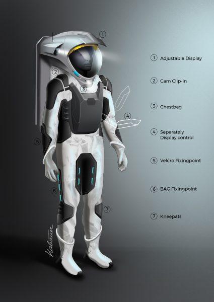 Serenity spacesuit design study (c) OeWF / Bernhard Kaliauer Design Studio