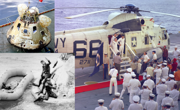 Bergung der Apollo 8-Crew durch die USS-Yorktown (c) NASA