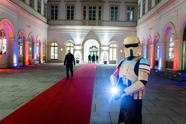 A stormtrooper guards the entrance at Palais Niederösterreich. (c) OeWF/Philipp Hager