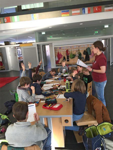 Education activity at an elementary school in Innsbruck