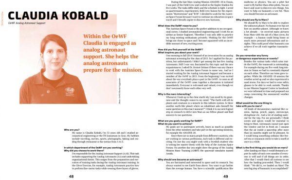 Magazin Mars Stories von Claudia Schulz und Timna Türkis (c) NDU/Schulz & Türkis