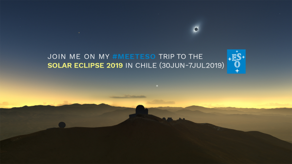 La Silla with Eclipse, illustrated (c) ESO