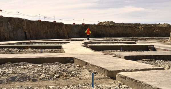 ELT construction site. This is the outer ring were later supporting structures are integrated. (c) OeWF (Olivia Haider)