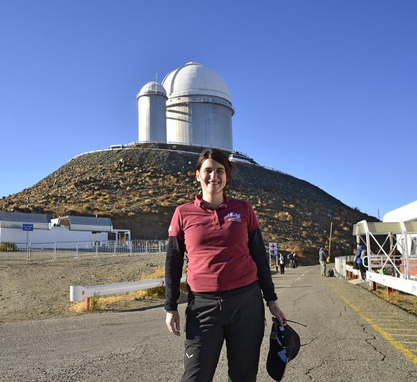 Me in front of the 3.6 m telescope (c) OeWF (Olivia Haider)