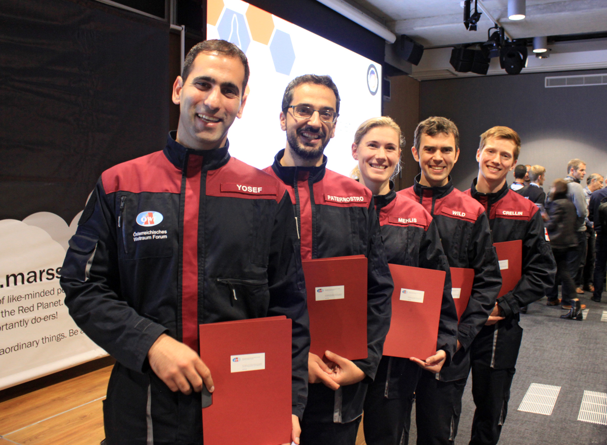 Analog Astronauts during the graduation ceremony