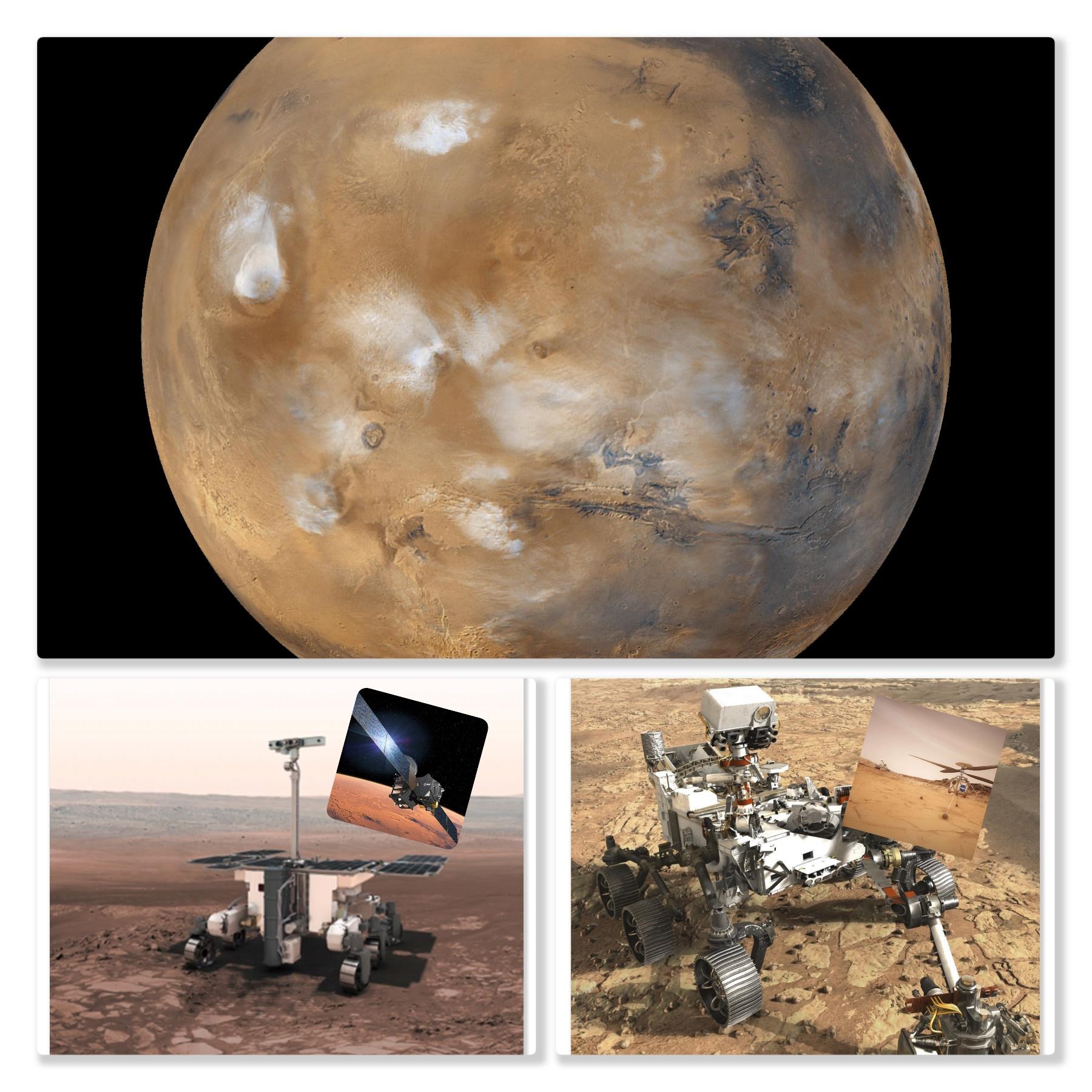 Geplante Marsmissionen 2020 – ein Ausblick