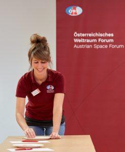 Alexandra Hofmann während der  Analog-AstronautInnen Selektion 2019  (c) ÖWF (Paul Santek)