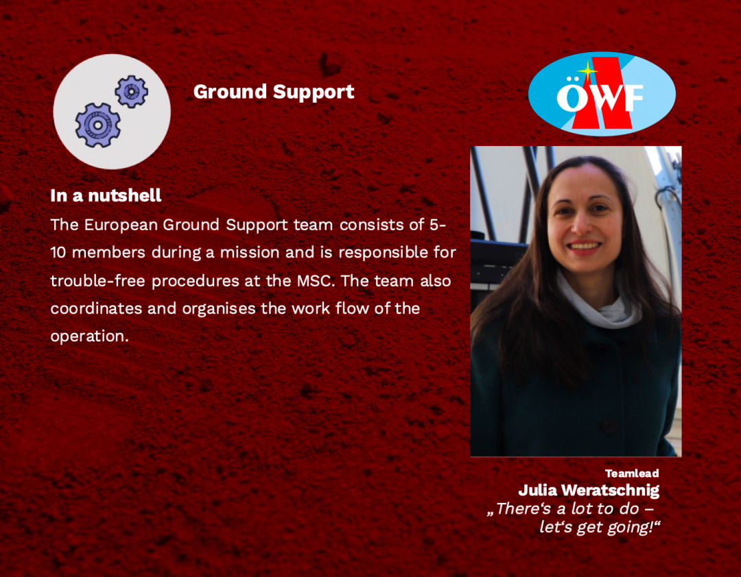 Ground Support – There's a lot to do, let's get going!
