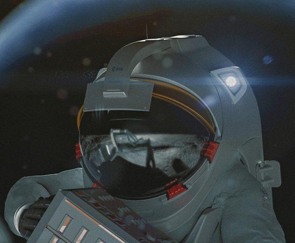 DEAR visual astronaut on the Moon