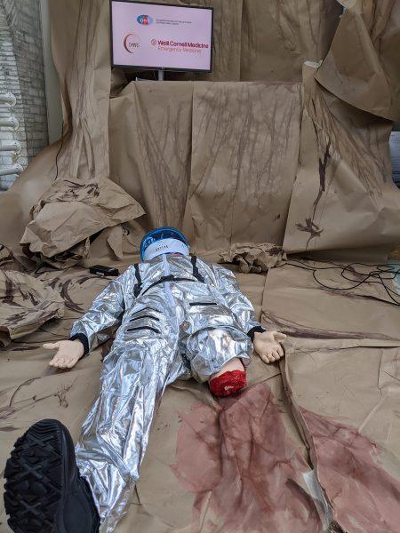 wounded dummy analog astronaut
