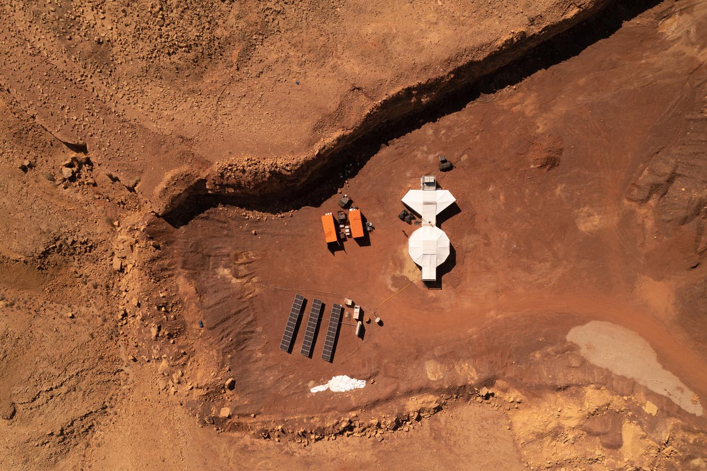 AMADEE-20 Habitat Luftaufnahme (c) ÖWF (Florian Voggeneder)