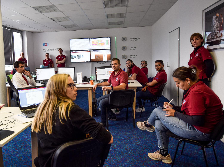 Briefing im Mission Support Center in Innsbruck (c) ÖWF