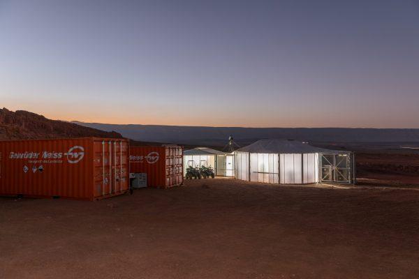 Mars Analog Habitat und Transportcontainer mit der einzigartigen Ausrüstung, Foto: ÖWF (Florian Voggeneder)
